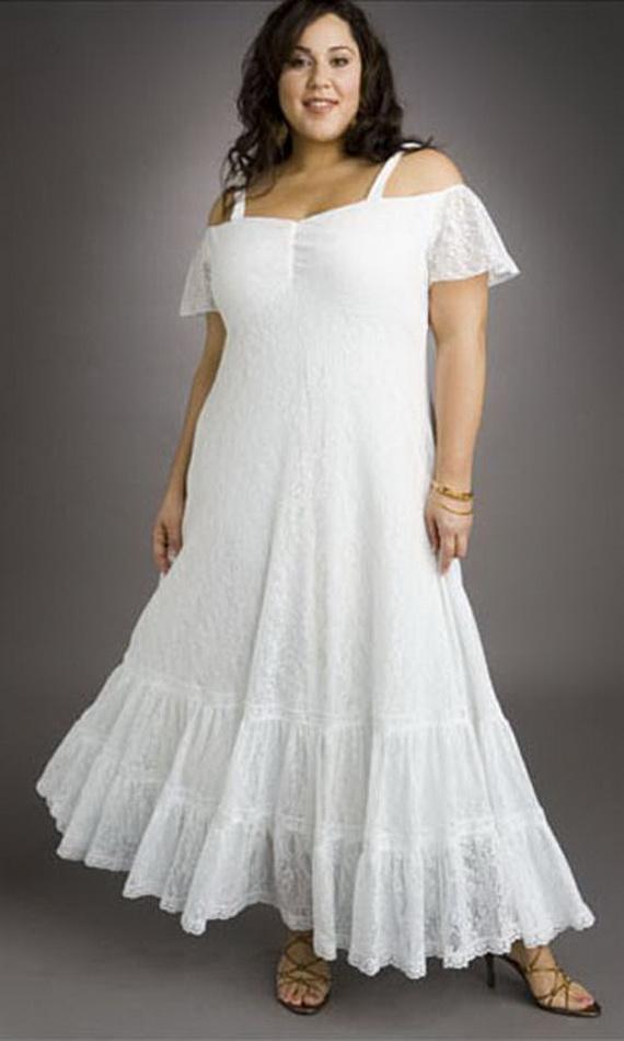 Plus Size White Beach Dress