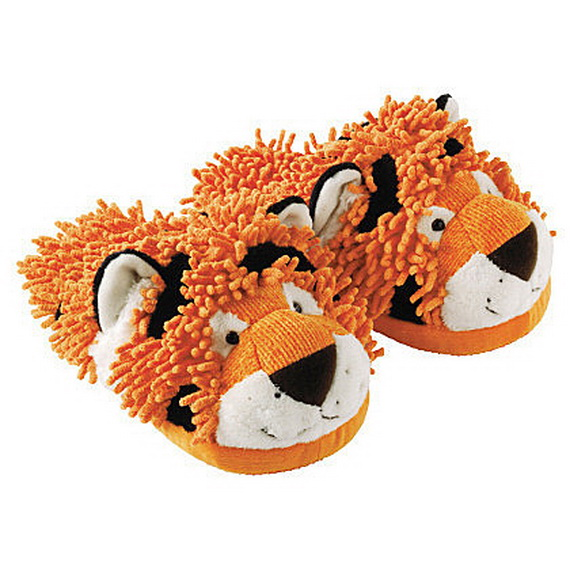 Fuzzy Friends Slippers Fuzzy Friends Tiger Slippers.