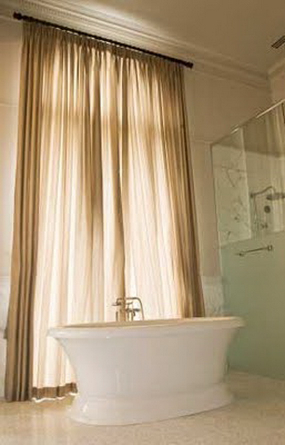 Curtain Color For Purple Wall Bathroom Window Curtai